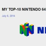 TheHande's top 10 Nintendo 64 games